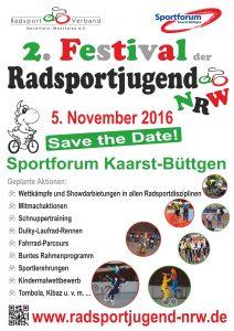 Plakat zum 2. Festival der Radsportjugend
