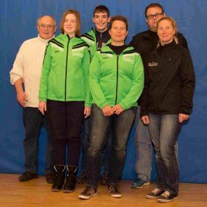 Der Jugendvorstand 2016 (v. h. l. Egon Trippe, Nathalie Kutsch, Fabian Kersten, Simone Schlösser, Ralf Fischer, Jessica Willemsen (Dirk Glowka fehlt)